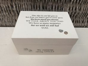 Personalised In Memory Of A Loved One ~ Box ~ UNCLE ~ any Name Bereavement Loss - 332624109057